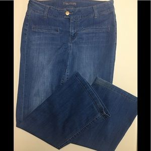 MAURICES STRETCHY WIDE LEG JEANS. SIZE 11/12.